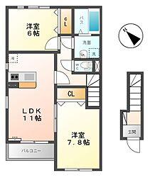 カーサドマーニ[2階]の間取り