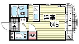カサイマンション[203号室]の間取り