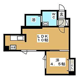 ブランノワールN14.exe[6階]の間取り