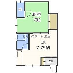 北海道札幌市北区太平十条4丁目の賃貸アパートの間取り