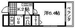 フレッサ岸和田[13号室]の間取り
