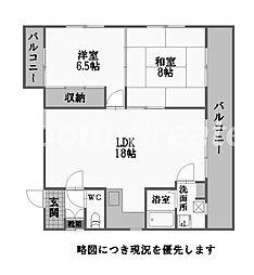 徳島県徳島市富田橋8丁目の賃貸マンションの間取り