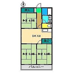 山本マンションI[4階]の間取り
