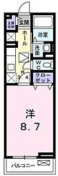 ポート泉佐野A棟[2階]の間取り