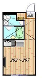 Grid八広[2階]の間取り