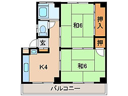 メゾン紀ノ川[3階]の間取り