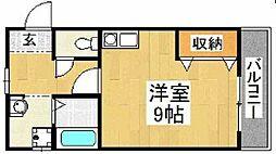 大阪府大阪市住之江区御崎5丁目の賃貸マンションの間取り