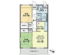 埼玉県上尾市五番町の賃貸マンションの間取り