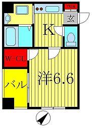 クレストタワー柏[9階]の間取り