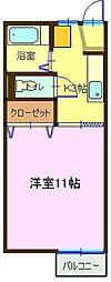 コーポYABE(B)[203号室]の間取り