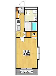 フォレストヴィラ2[2階]の間取り