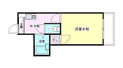 ロイヤルメゾン古江[3階]の間取り