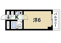 シティパレス東生駒P-3 C[3階]の間取り