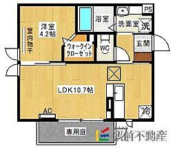 ハッピーライト M棟[1階]の間取り
