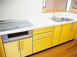 引出・食器棚が多く買い置きなどもたくさん収納可能です。