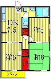 サクセス高田[101号室]の間取り