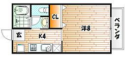 サニーコートREN[2階]の間取り