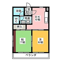 MANSION EVERGREEN[3階]の間取り