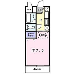 サージュ[2階]の間取り