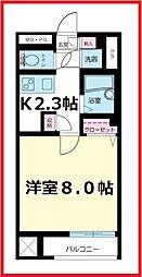 東京都荒川区西日暮里1丁目の賃貸マンションの間取り