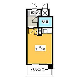 朝日プラザ博多[10階]の間取り