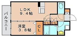 福岡県福岡市博多区東雲町2丁目の賃貸マンションの間取り