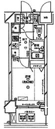 東京都新宿区弁天町の賃貸マンションの間取り