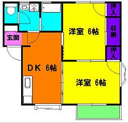 静岡県浜松市南区石原町の賃貸アパートの間取り