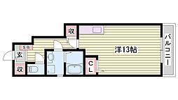 JR東海道・山陽本線 明石駅 バス8分 西河原下車 徒歩6分の賃貸アパート 1階ワンルームの間取り