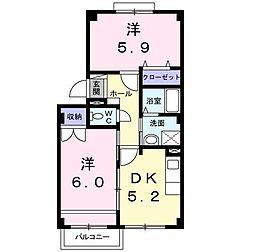 アベニューB[2階]の間取り