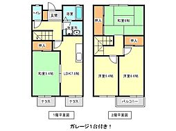 [テラスハウス] 兵庫県神戸市垂水区つつじが丘5丁目 の賃貸【兵庫県 / 神戸市垂水区】の間取り