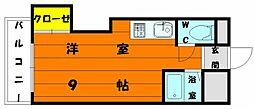 プレアール唐原II[3階]の間取り