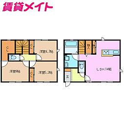 近鉄名古屋線 千代崎駅 徒歩17分の賃貸テラスハウス 1階3LDKの間取り