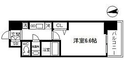 アドバンス大阪ブリアント 8階1Kの間取り