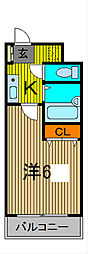 川口プラザD[3階]の間取り