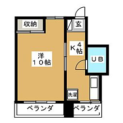 j・sbach[3階]の間取り