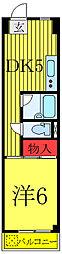 JR埼京線 板橋駅 徒歩3分の賃貸マンション 3階1DKの間取り