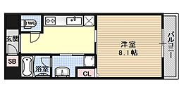ジョイシティ二条城前[302号室号室]の間取り