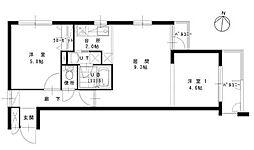 アーバンコート栄町[2階]の間取り