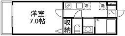 メゾン・ボヌール[201号室]の間取り