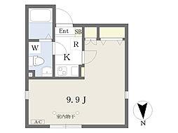東京メトロ南北線 王子駅 徒歩7分の賃貸マンション 1階1Kの間取り