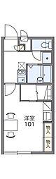 ヴィラフルール[2階]の間取り