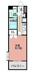 ピュアドーム六本松ローゼ(305)[305号室]の間取り