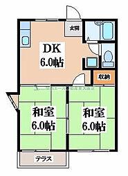 ハイツ笠井[1階]の間取り