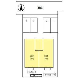 ボクドゥボヌールII[1階]の外観