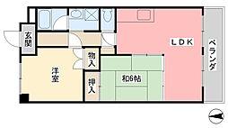 兵庫県姫路市辻井2丁目の賃貸マンションの間取り