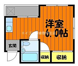 岡山県倉敷市鶴形1丁目の賃貸マンションの間取り