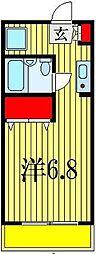 ドエル西船[3階]の間取り