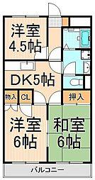 サニークレストヤナカ[203号室]の間取り