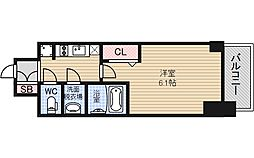 Osaka Metro長堀鶴見緑地線 松屋町駅 徒歩4分の賃貸マンション 6階1Kの間取り